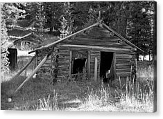 Two Cabins One Outhouse Acrylic Print by Richard Rizzo