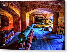 Two Cannons Acrylic Print by Garry Gay