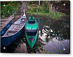 Two Canoes Acrylic Print by Douglas Barnett