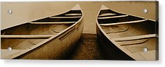 Two Canoes Acrylic Print by Jack Paolini