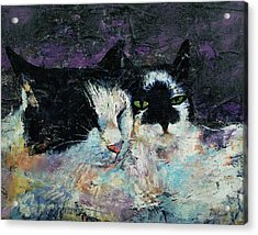 Two Cats Acrylic Print by Michael Creese