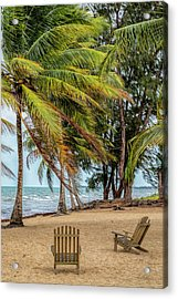 Two Chairs In Belize Acrylic Print