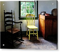 Two Chairs In Kitchen Acrylic Print by Susan Savad