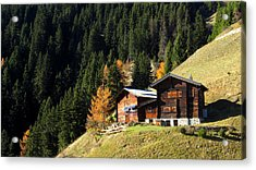 Two Chalets On A Mountainside Acrylic Print