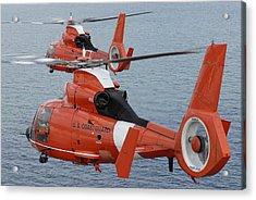 Two Coast Guard Hh-65c Dolphin Acrylic Print