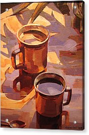 Two Coffees Acrylic Print by Tim  Heimdal