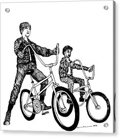 Two Cool Riders Acrylic Print by Karl Addison