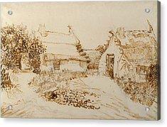 Two Cottages At Saintes Maries De La Mer Acrylic Print