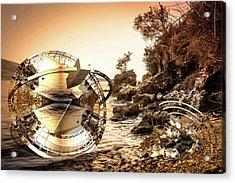 Two Crashed U F Os On Rocks Acrylic Print