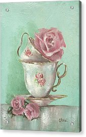Two Cup Rose Painting Acrylic Print