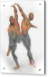Two Dancers Acrylic Print