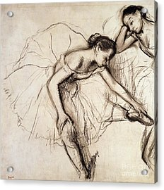 Two Dancers Resting Acrylic Print by Edgar Degas