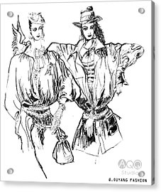 Two Fashion Girls Acrylic Print