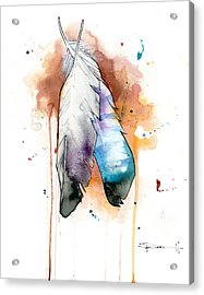Two Feathers Acrylic Print