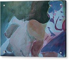 Two Figures Acrylic Print by Aleksandra Buha