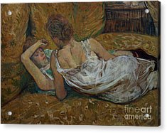 Two Friends Acrylic Print by Henri de Toulouse-Lautrec
