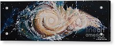 Two Galaxies Colliding Acrylic Print by Laara WilliamSen