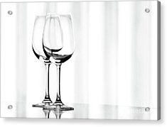 Two Glasses Acrylic Print by Dan Holm