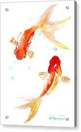 Two Goldfish Feng Shui Acrylic Print