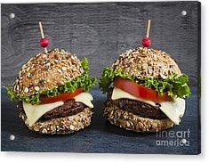 Two Gourmet Hamburgers Acrylic Print