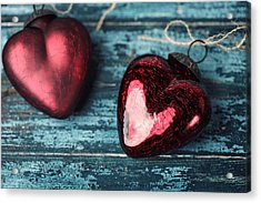 Two Hearts Acrylic Print by Nailia Schwarz