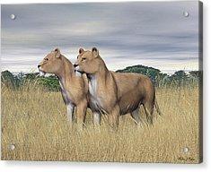 Two Hunters Acrylic Print
