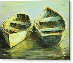 Two In A Row Acrylic Print by Madeleine Holzberg