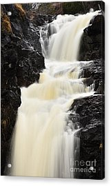 Acrylic Print featuring the photograph Two Island River Waterfall by Larry Ricker
