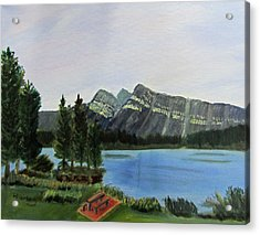 Acrylic Print featuring the painting Two Jack Lake by Linda Feinberg