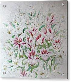 Two Kinds Of Lilies Acrylic Print