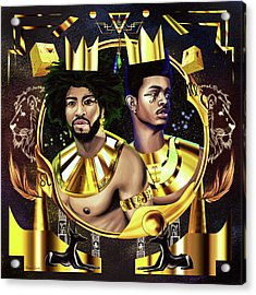 Two Kings Ian And Trevor Jackson Acrylic Print by Kenal Louis