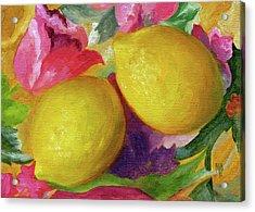 Two Lemons Acrylic Print by Marina Petro