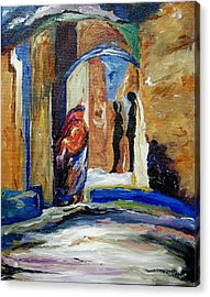 Two Lovers In The Dark Acrylic Print