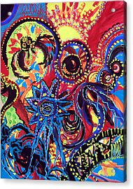 Acrylic Print featuring the painting Elements Of Creation by Marina Petro