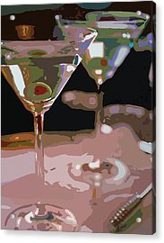 Two Martini Lunch Acrylic Print by David Lloyd Glover