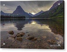 Two Medicine Lake And Sinopah Mountain Acrylic Print