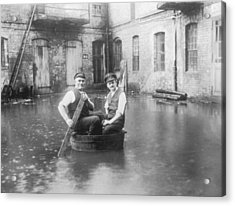 Two Men In A Tub Acrylic Print