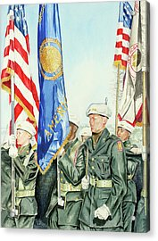 Two Months After 9-11  Veteran's Day 2001 Acrylic Print by Carolyn Coffey Wallace