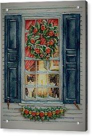 Two Muses Williamsburg Christmas Acrylic Print