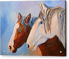 Two Mustangs Acrylic Print