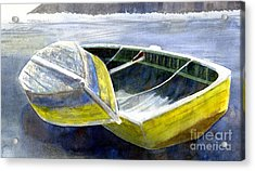 Two Old Boats On The Beach Acrylic Print by Sharon Freeman