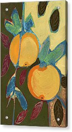 Two Oranges Acrylic Print by Jennifer Lommers