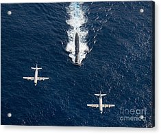 Two P-3 Orion Maritime Surveillance Acrylic Print