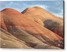 Acrylic Print featuring the photograph Two Painted Hills by Greg Nyquist
