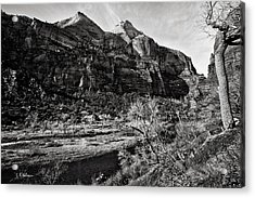 Two Peaks - Bw Acrylic Print by Christopher Holmes