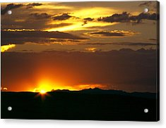 Two Peaks Sunset Acrylic Print by Lynard Stroud