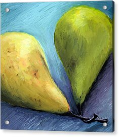 Two Pears Still Life Acrylic Print by Michelle Calkins