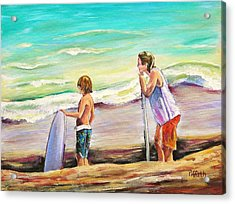 Two Perfect Waves Acrylic Print by Patricia Piffath