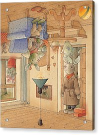 Two Rabbits Acrylic Print by Kestutis Kasparavicius