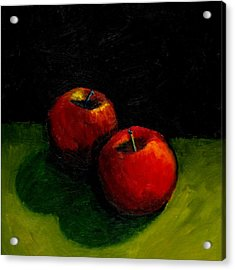 Two Red Apples Still Life Acrylic Print by Michelle Calkins